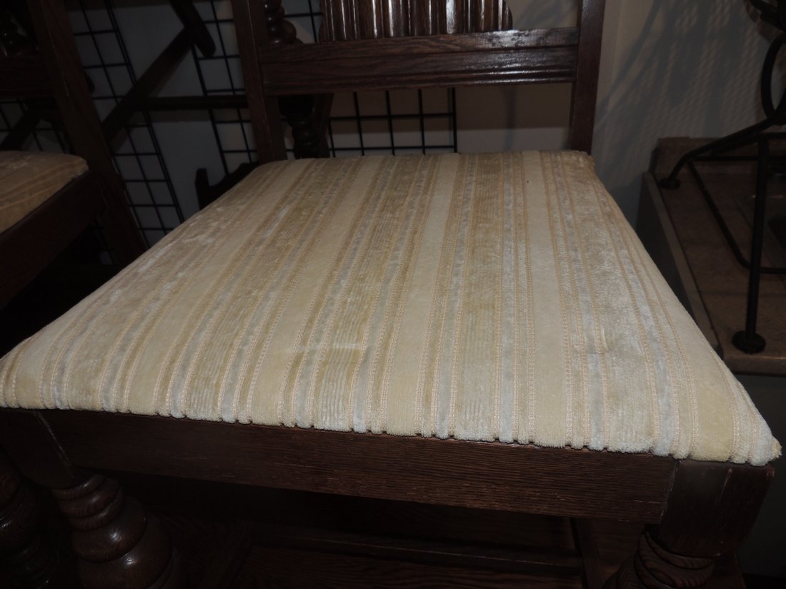 Antique Dining Table with Six Chairs - 6