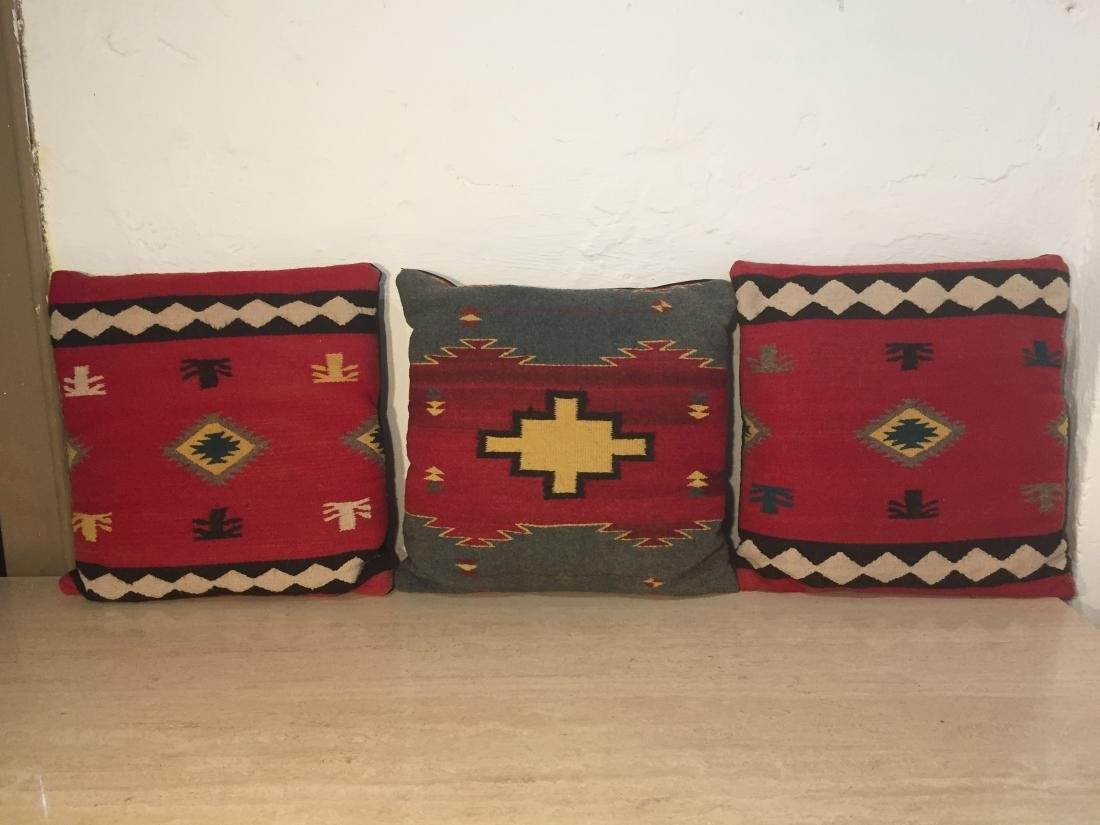 Three Southwest  Wool Pillows