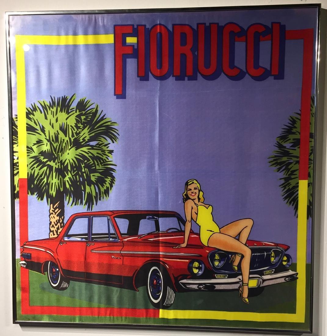 Framed Florucci Silk Scarf