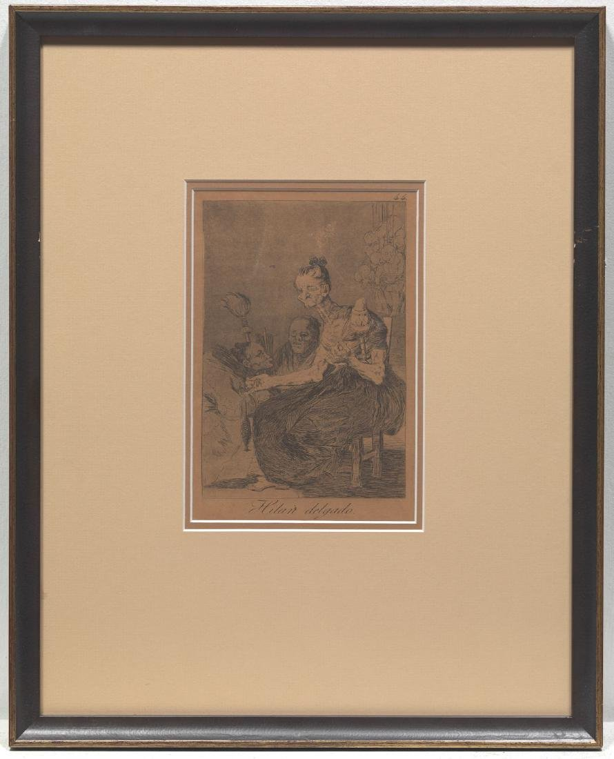 Francisco de Goya Pair of Original Etching with