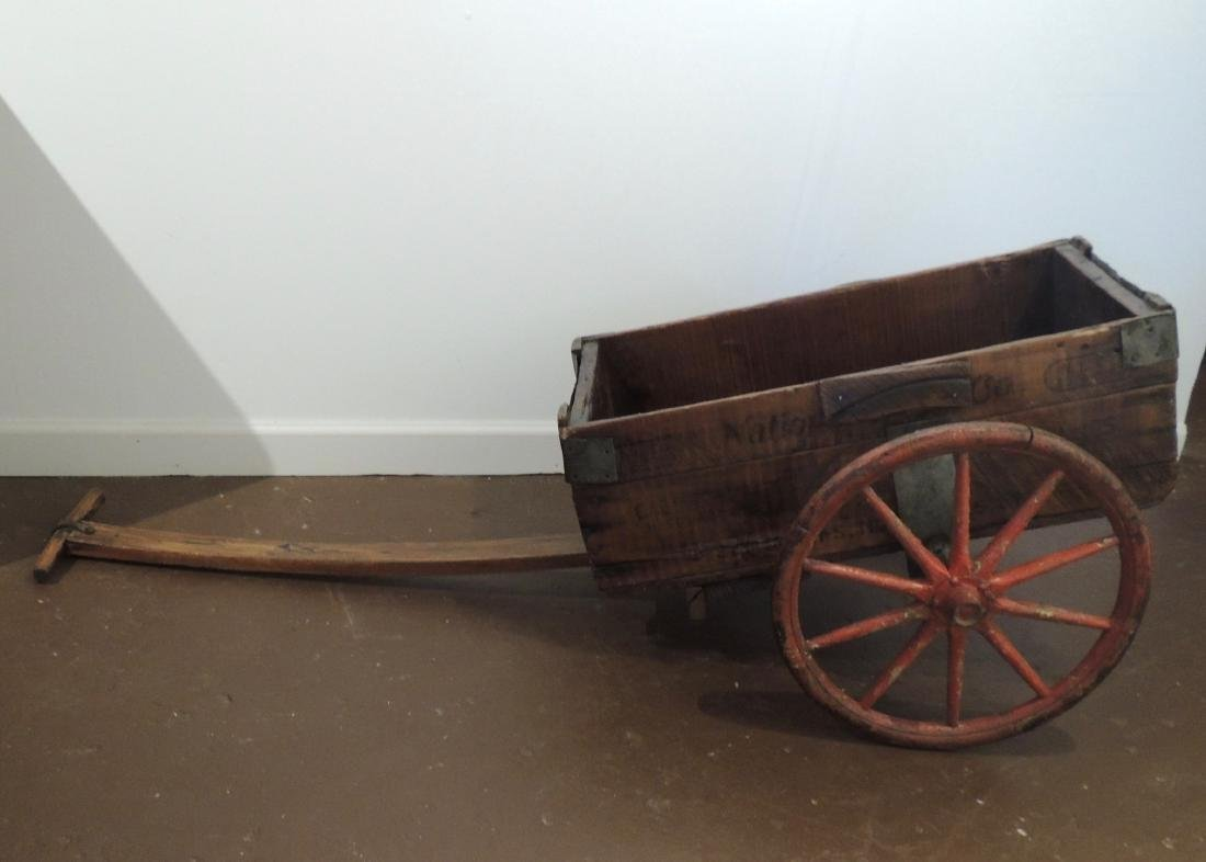 Antique Folk Art Wagon Made From Hardware Boxes
