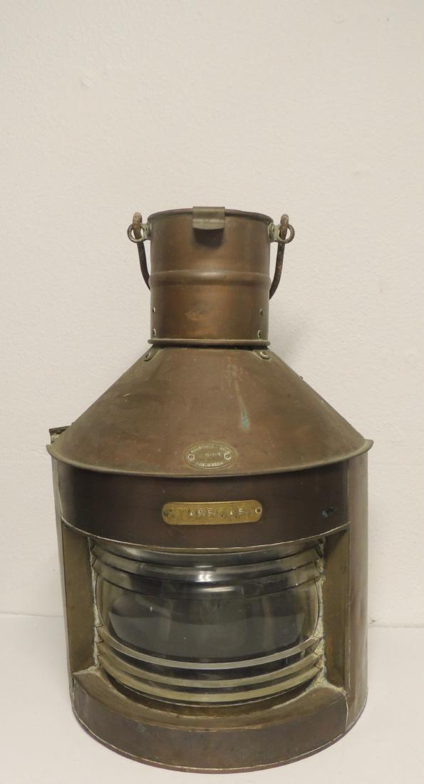 Nautical Antique Starboard Brass Lantern