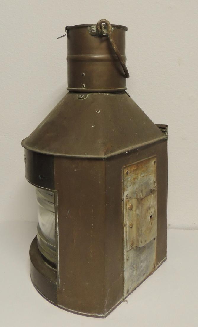 Nautical Antique Starboard Brass Lantern - 2