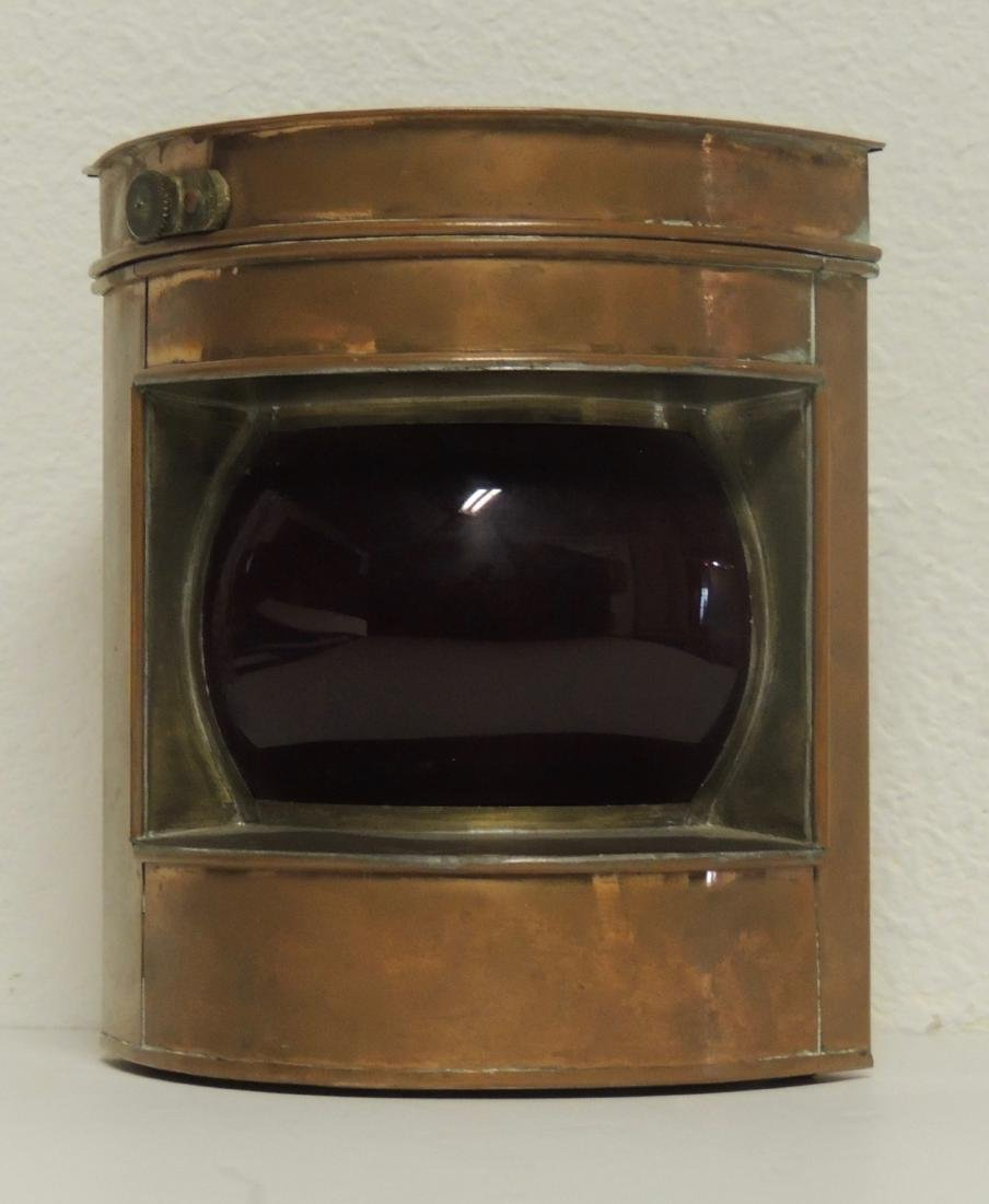Nautical Antique Chinese Port Brass Lantern