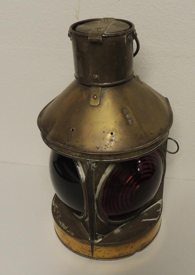 Nautical Asian Bi-Colored Light Brass Lantern