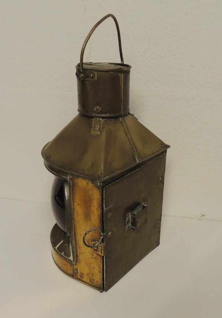 Nautical Asian Bi-Colored Light Brass Lantern - 2