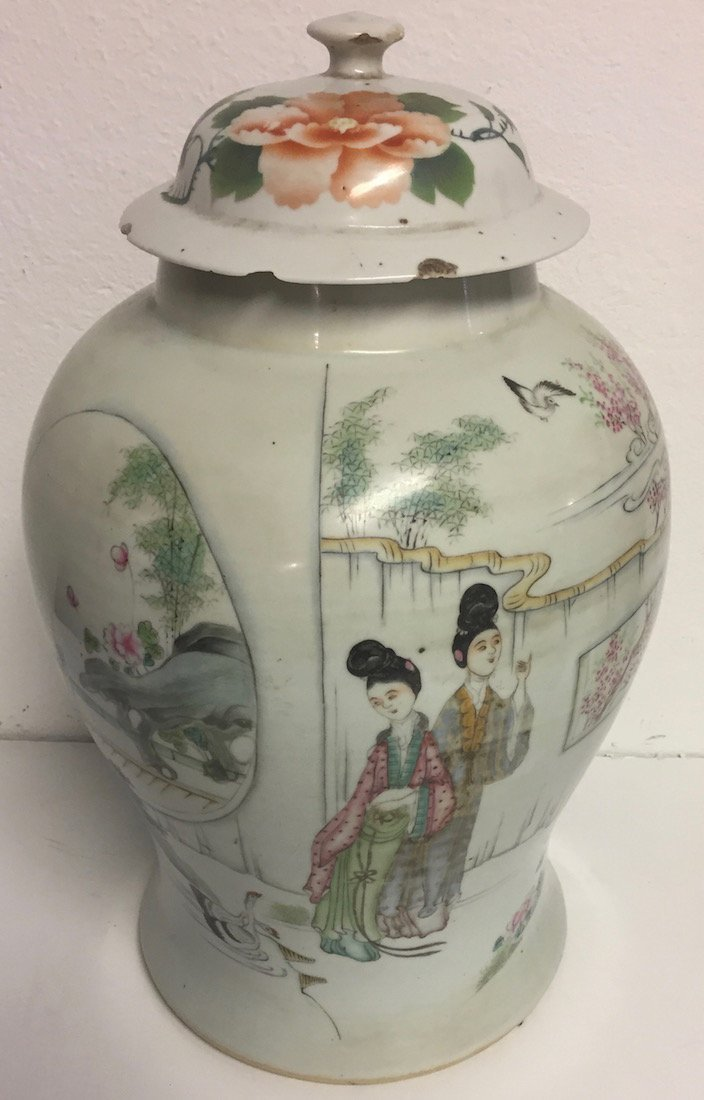 Chinese Temple Jar