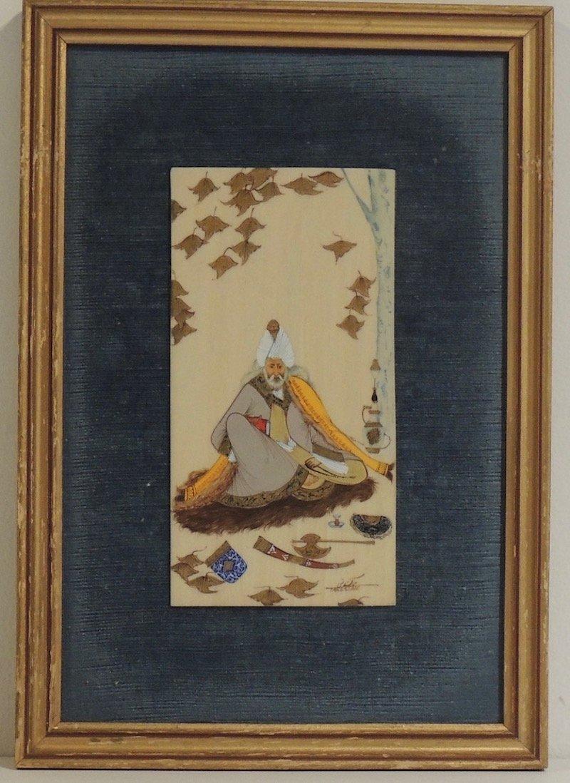 Vintage Iranian Signed Artworks Pair - 2