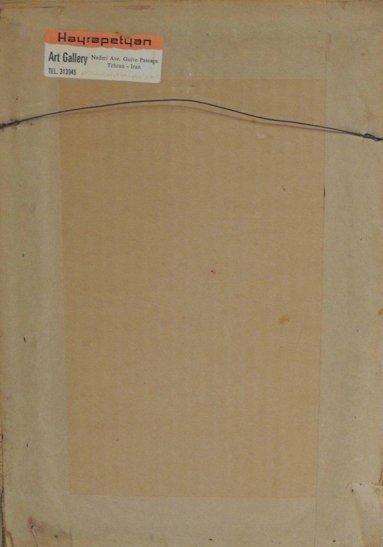 Vintage Iranian Signed Artworks Pair - 3