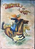 Daughter of the West - Antique Hand Painted Banner