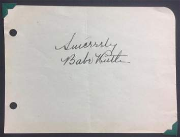 Babe Ruth 1940
