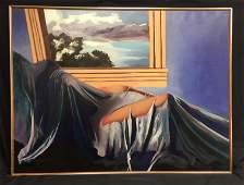 Cecil L Casebier 1922-1996 Large Modernist Painting
