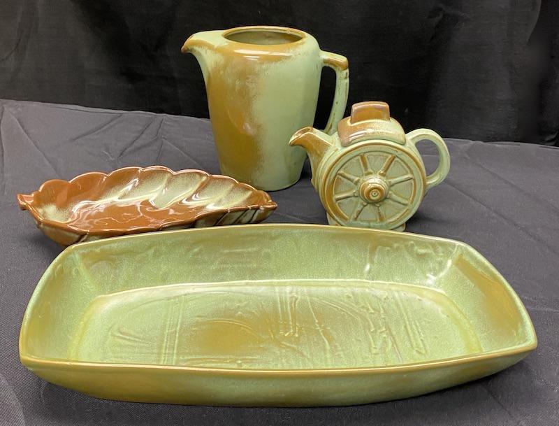 Frankoma Green Tableware