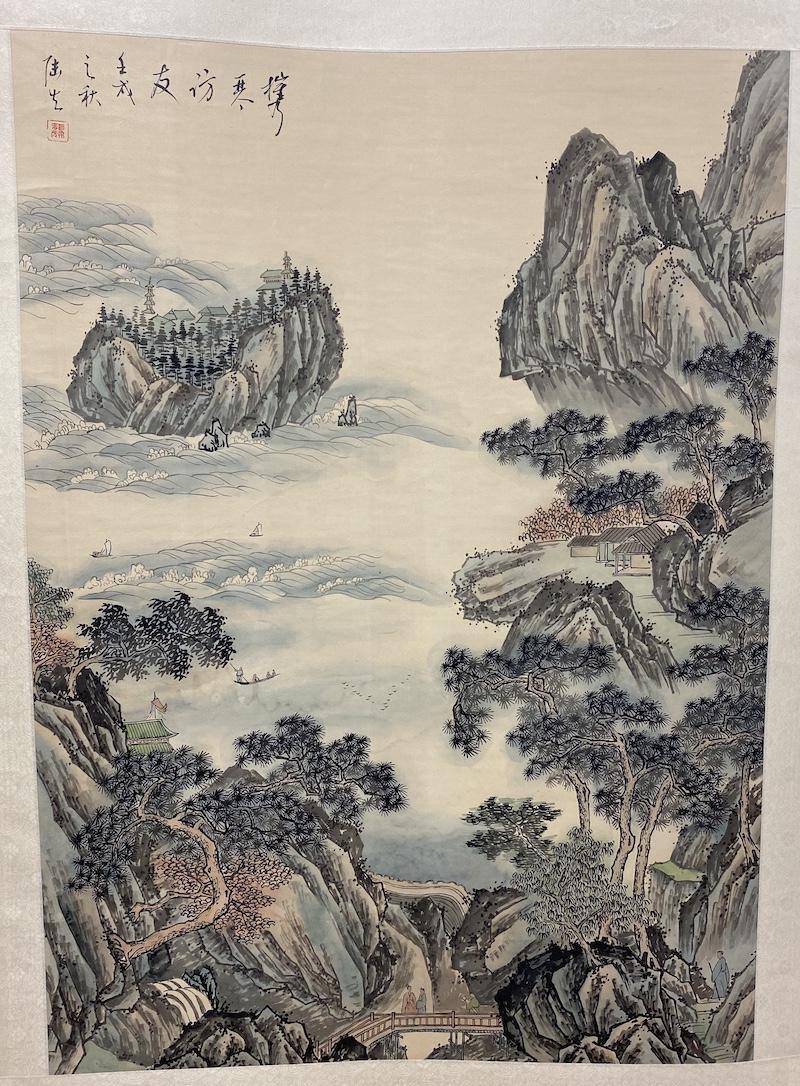 Wu Hufan Style Landscape Painting Scroll