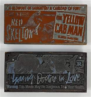 Comedy Movie Vintage Printing Blocks