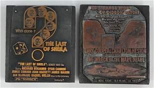 Action | Mystery Movie Vintage Printing Blocks