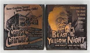 Horror Movie Vintage Printing Blocks