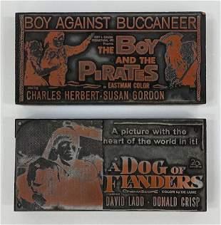 Family Movies Vintage Printing Blocks