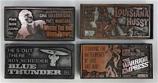 Action/Thriller Movies Vintage Printing Blocks