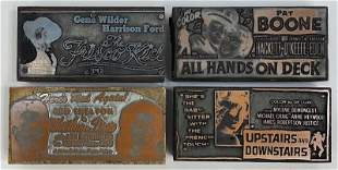 Comedy Movies Vintage Printing Blocks