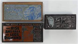 Rock-n-Roll Movies Vintage Printing Blocks