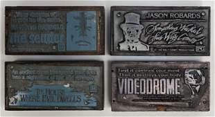 Horror Movies Vintage Printing Blocks