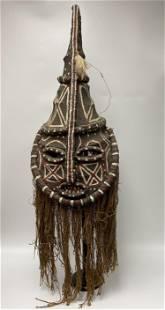 Yoruba Nigerian Painted Headdress Mask