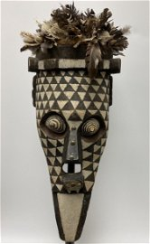 BWA Bird Mask with Abstract Polychromed Face