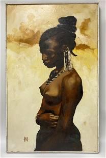 Alden African Oil on Canvas
