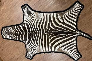 Vintage Zebra Rug