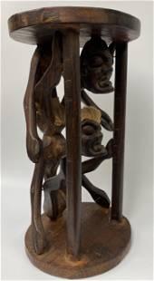 Vintage Carved Stool
