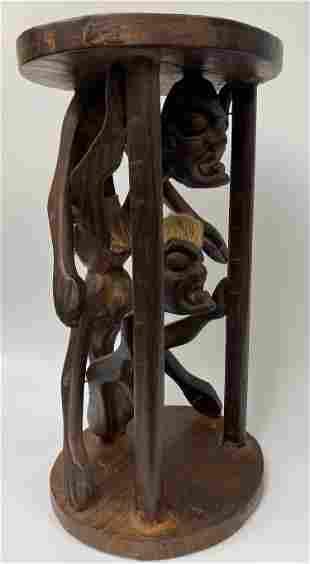 Vintage African Carved Stool