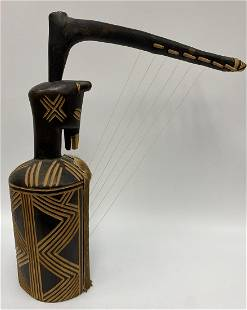 Vintage String Harp Zig-Zag Pattern