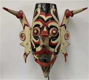 Hand Painted Kenyah / Kayan Mask - Borneo