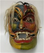Large Oversized Serpent Mask with Horsehair