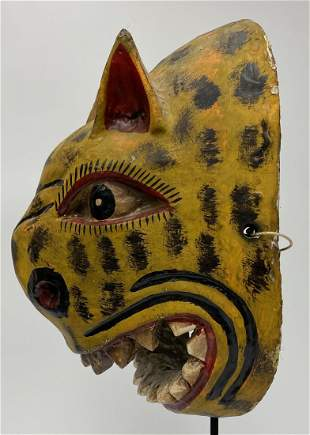 Vintage Wooden Mexican Mask