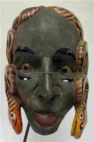 Vintage Mexican Snake Mask