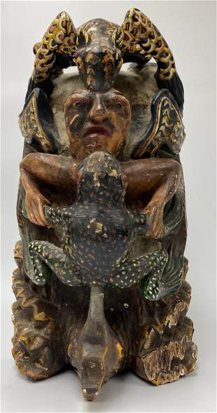 Large Mexican Lord of the Animals Mask