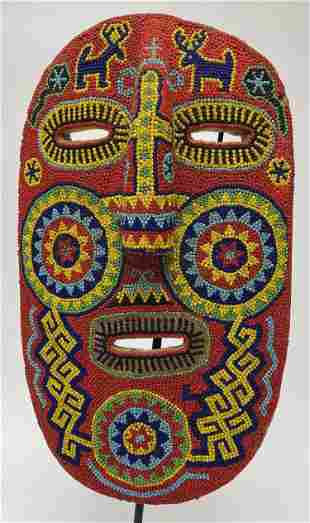 Beaded Mexican Festival Mask