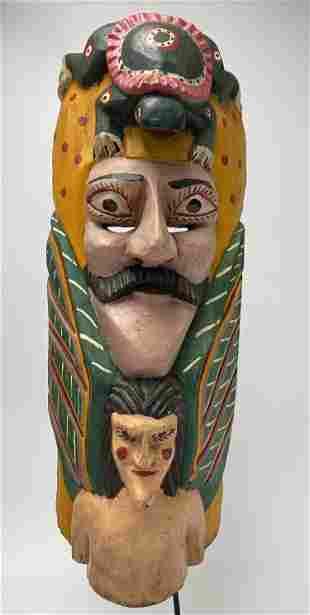 Vintage Mexican Festival Mask