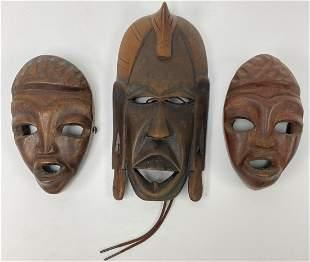 Three African Style Masks