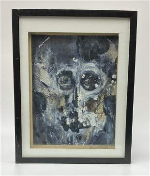 Glen Westrom Watercolor African Mask Painting