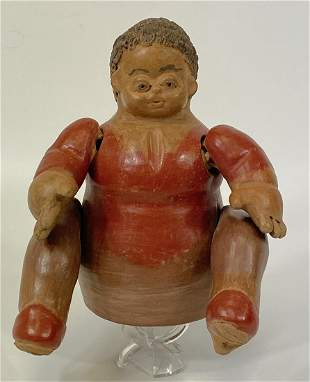 African Terracotta Pottery Doll