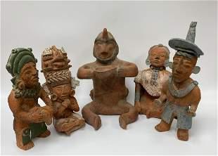 Set of Five Mexican / Aztec Decorative Items
