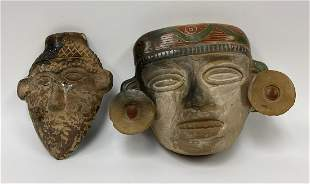 Pair of Aztec / Mexican Mask