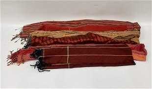 Silk Cambodian Shawls - Set of 6