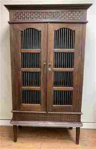 Spanish Colonial Spindled Cabinet