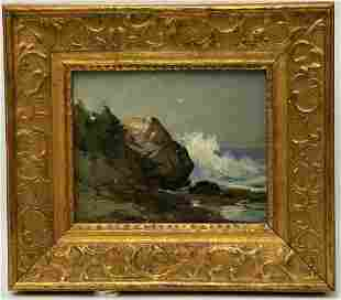 Signed Oil Landscape Painting - Small signed illegibly