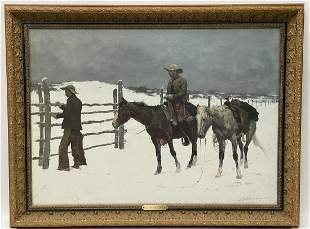 Frederic Remington Giclee Fall of the Cowboy