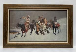 Frederic Remington Framed Print Return of Blackfoot War